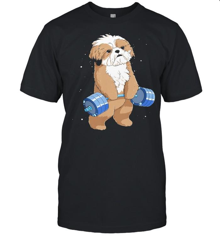 Weight Lifting Weightlifting Shih Tzu shirt Classic Men's T-shirt
