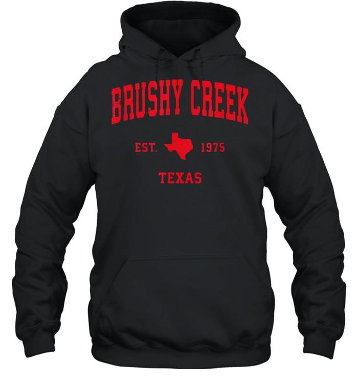 Brushy Creek Texas TX Est 1975 Vintage Sports T- Unisex Hoodie