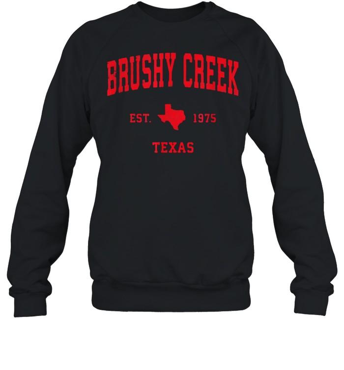 Brushy Creek Texas TX Est 1975 Vintage Sports T- Unisex Sweatshirt