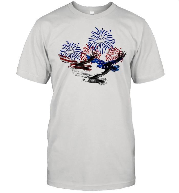Eagle heart 4th of july shirt Classic Men's T-shirt