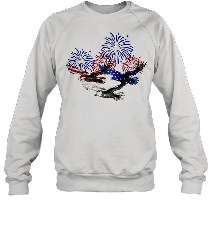 Eagle heart 4th of july shirt Unisex Sweatshirt
