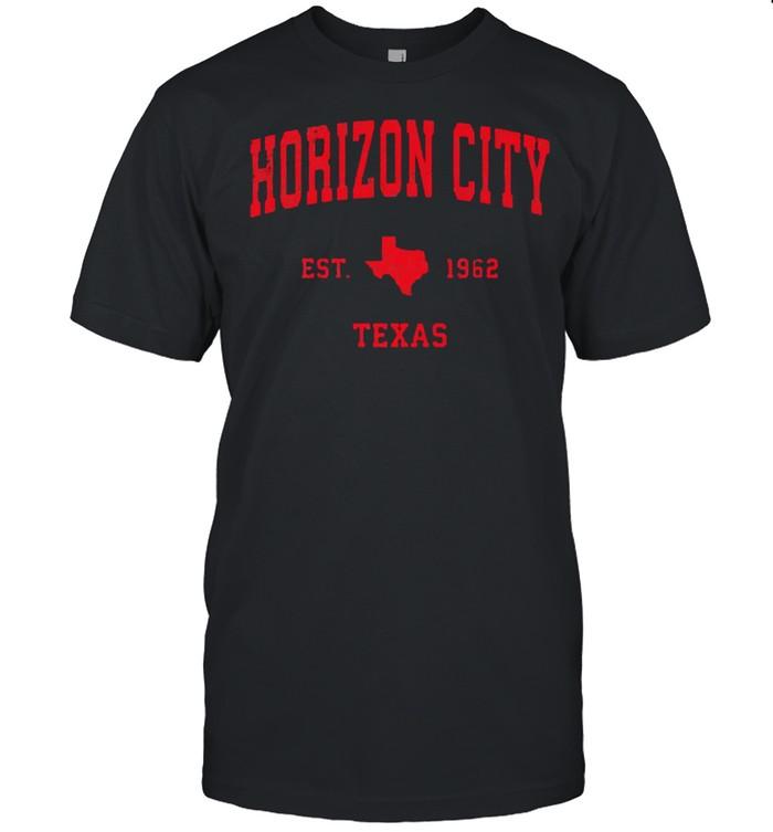 Horizon City Texas TX Est 1962 Vintage Sports T- Classic Men's T-shirt