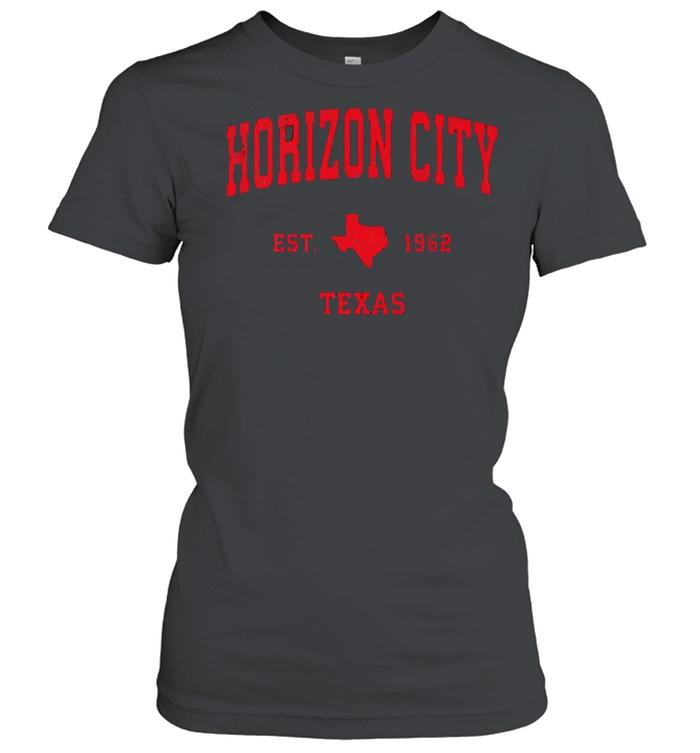 Horizon City Texas TX Est 1962 Vintage Sports T- Classic Women's T-shirt