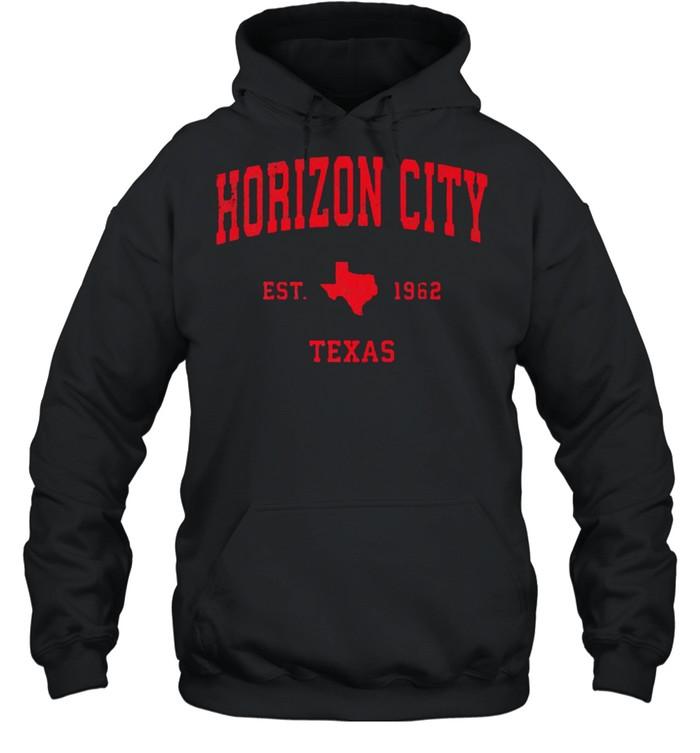 Horizon City Texas TX Est 1962 Vintage Sports T- Unisex Hoodie