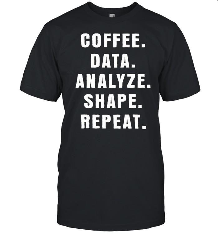 Coffee Data Analyze Shape Repeat Classic shirt Classic Men's T-shirt