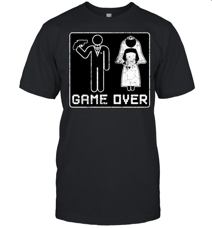 GAME OVER JGA Junggesellenabschied Geschenk Männer Party shirt Classic Men's T-shirt