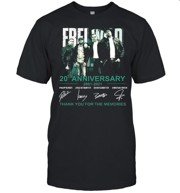 Frei 20th Anniversary 2001 2021 Thank You For The Memories shirt Classic Men's T-shirt