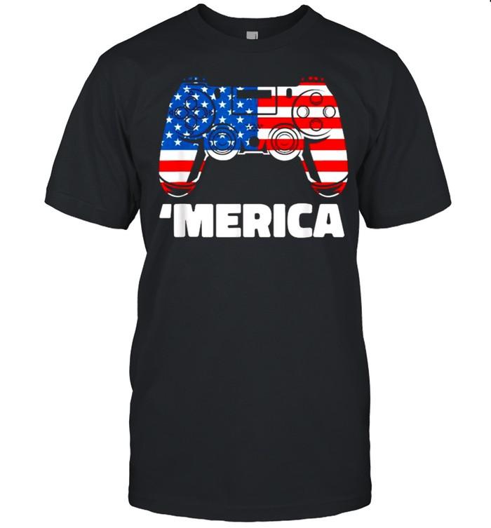 Merica Video game american flag shirt Classic Men's T-shirt