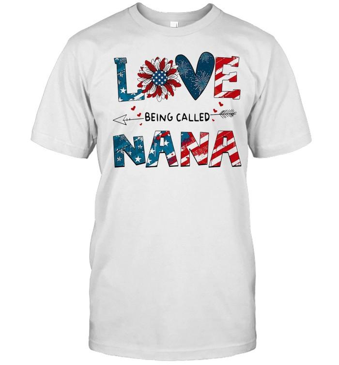 Love Being Called Nana Sunflower 4th Of July shirt Classic Men's T-shirt