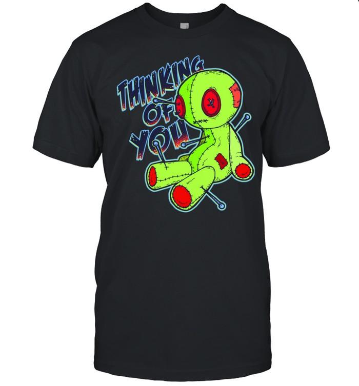 Thinking of You Voodoo Doll Halloween Valentine shirt Classic Men's T-shirt