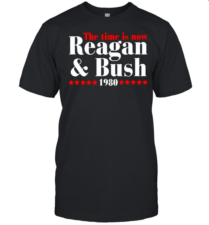 The time is now Reagan and Bush 1980 shirt Classic Men's T-shirt
