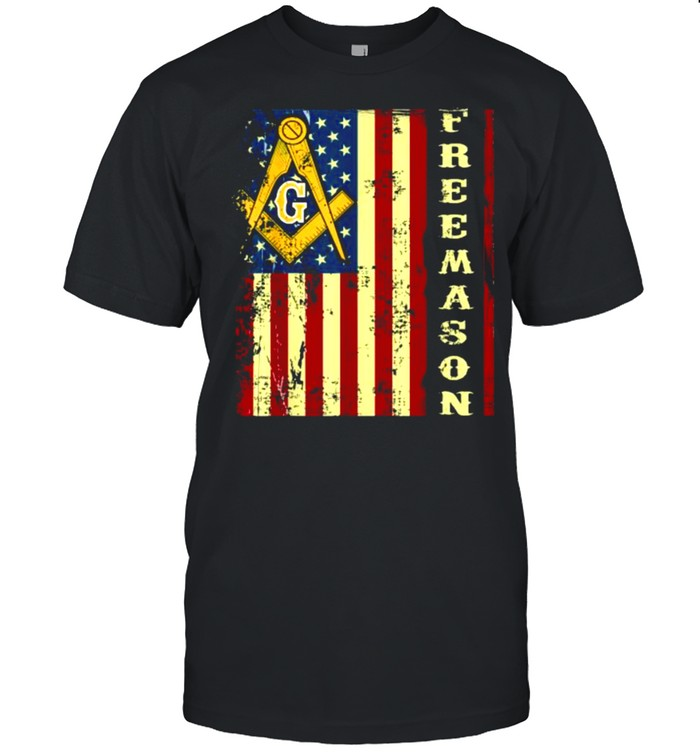 Freemason US Flag 4th of July Independence Parents' Day T- Classic Men's T-shirt