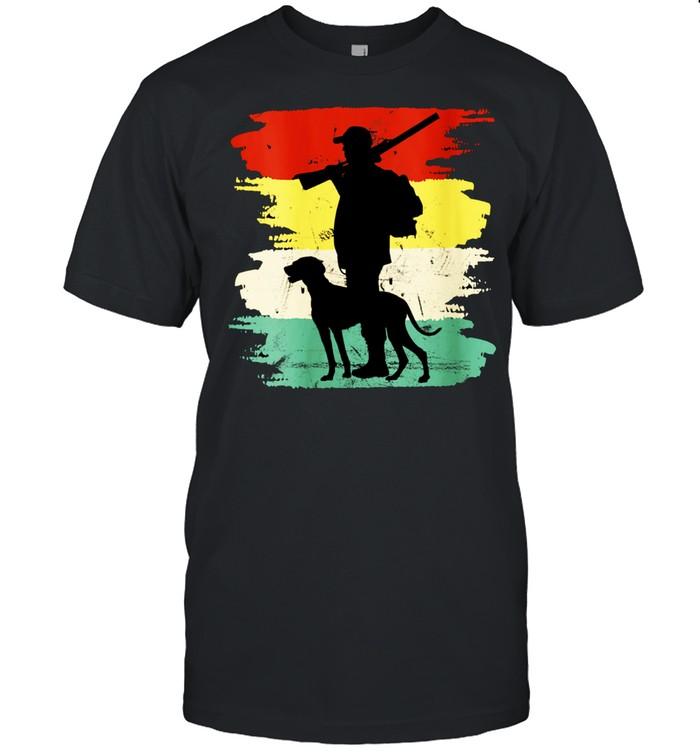 Retro Hunting Dog Fan Outdoors shirt Classic Men's T-shirt