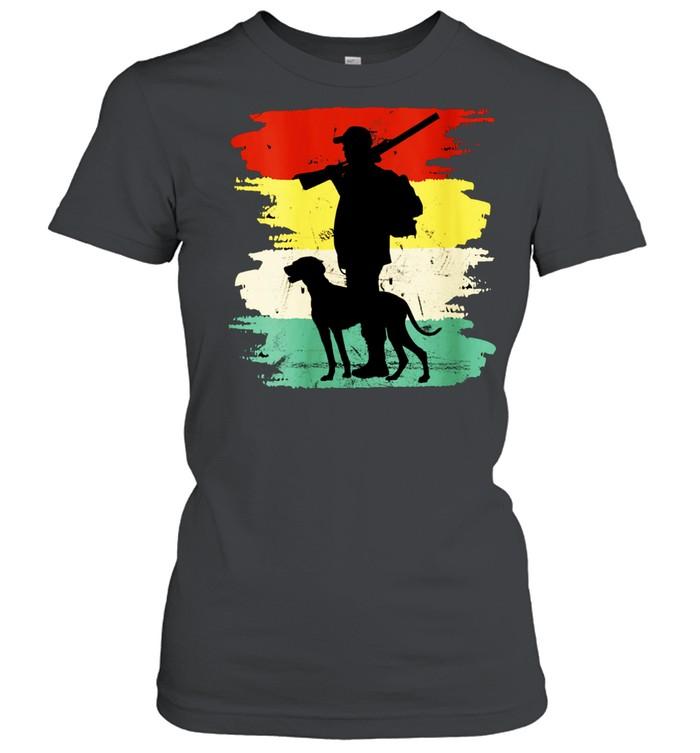 Retro Hunting Dog Fan Outdoors shirt Classic Women's T-shirt
