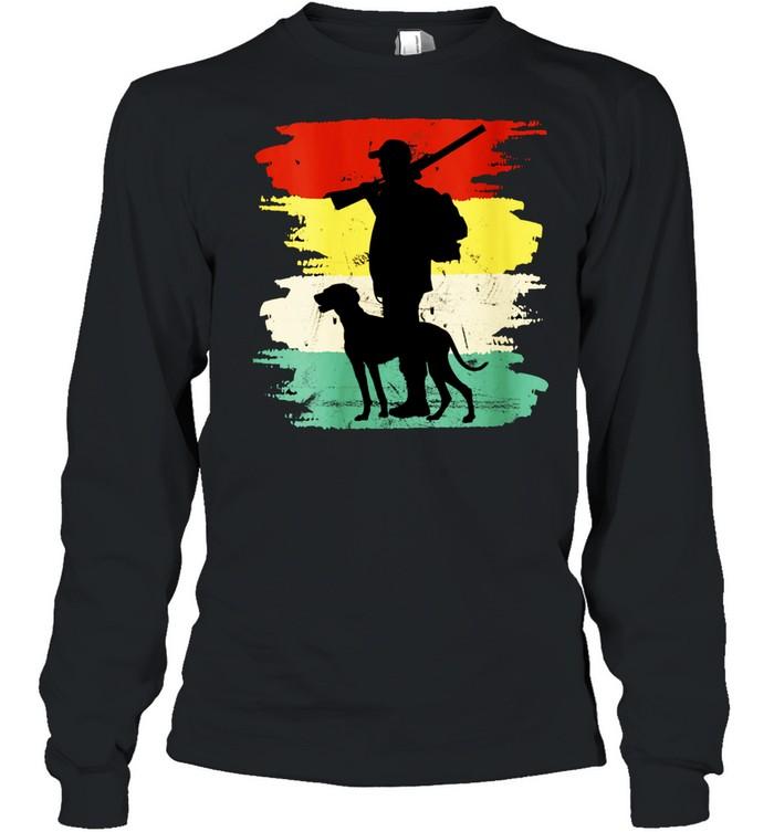 Retro Hunting Dog Fan Outdoors shirt Long Sleeved T-shirt
