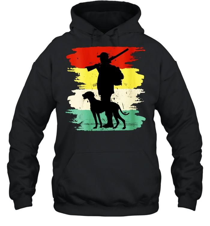Retro Hunting Dog Fan Outdoors shirt Unisex Hoodie