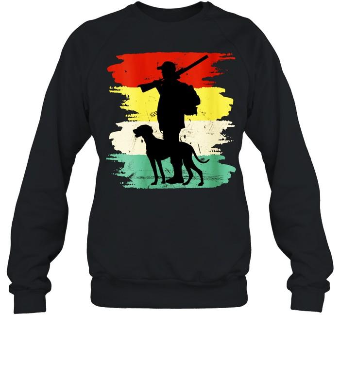 Retro Hunting Dog Fan Outdoors shirt Unisex Sweatshirt