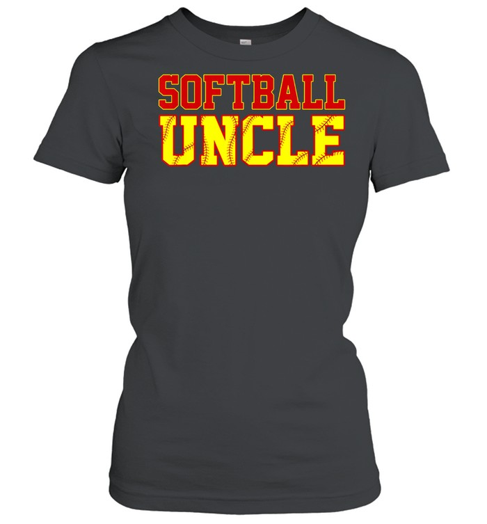 Softball Uncle Christmas Fathers Day Softball Uncle shirt Classic Women's T-shirt