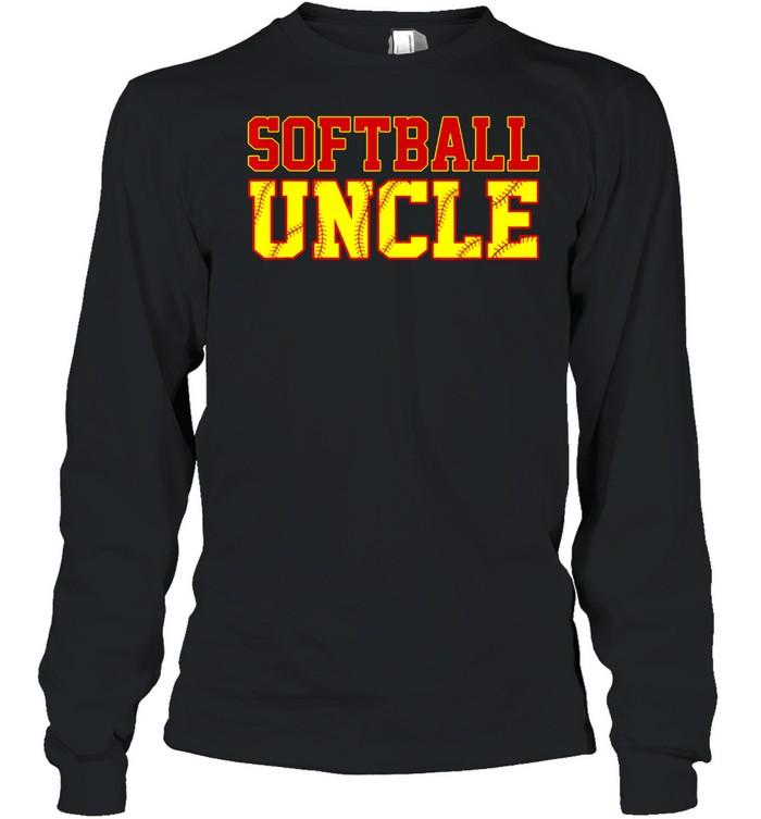 Softball Uncle Christmas Fathers Day Softball Uncle shirt Long Sleeved T-shirt
