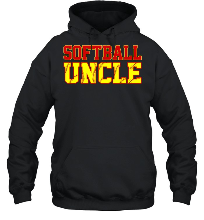 Softball Uncle Christmas Fathers Day Softball Uncle shirt Unisex Hoodie