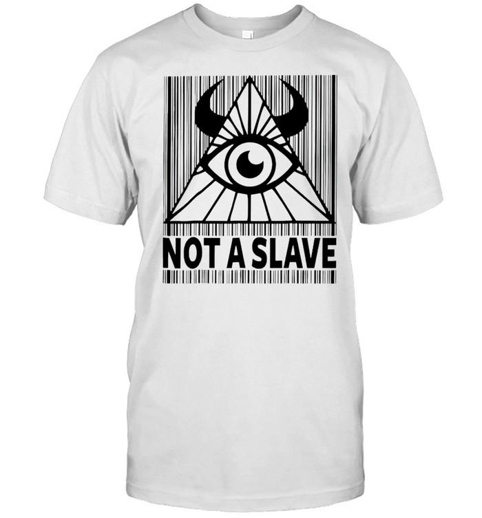 Illuminati not a slave shirt Classic Men's T-shirt