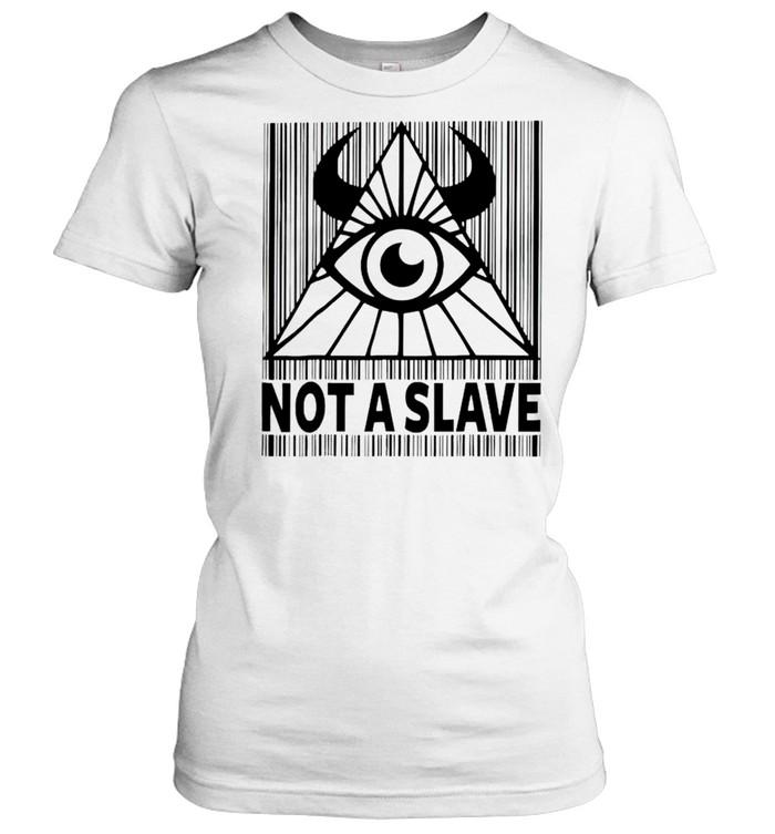 Illuminati not a slave shirt Classic Women's T-shirt
