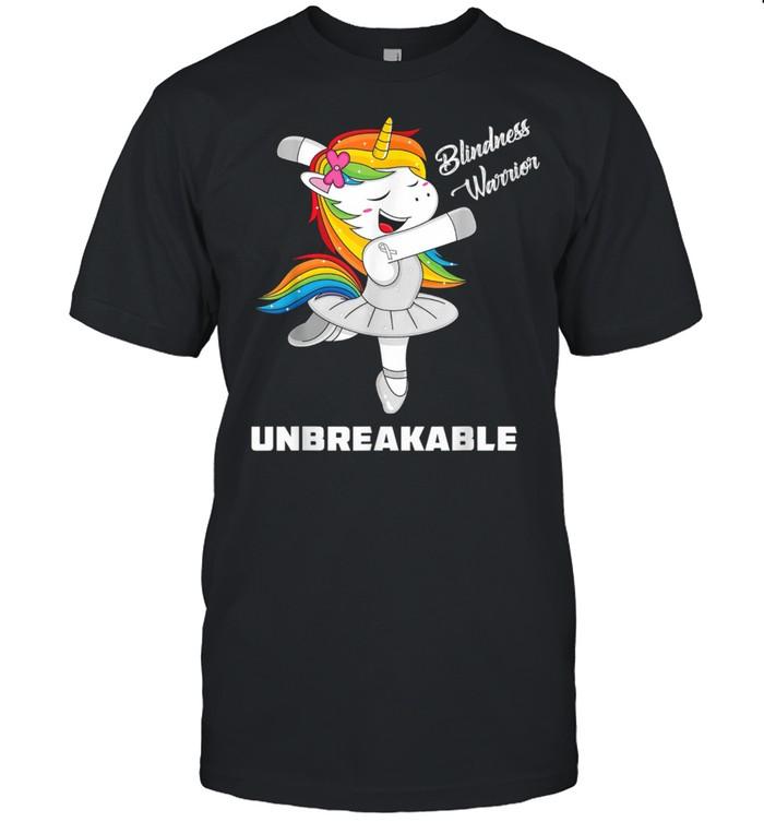 Blindness Unicorn Unbreakable Blindness Warrior Awareness shirt Classic Men's T-shirt
