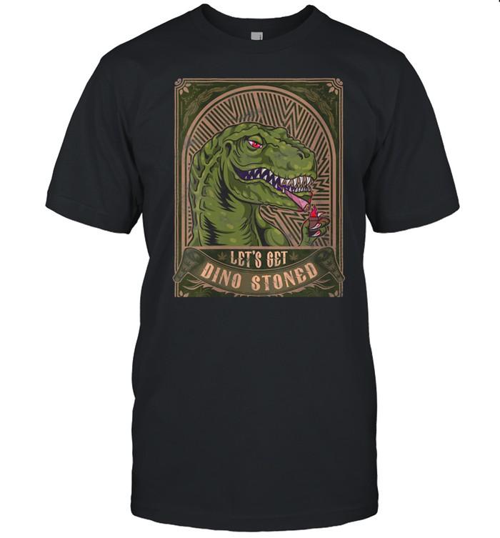 Marijuana Dinosaur Inspired Prehistoric Weed Related Tyranno shirt Classic Men's T-shirt