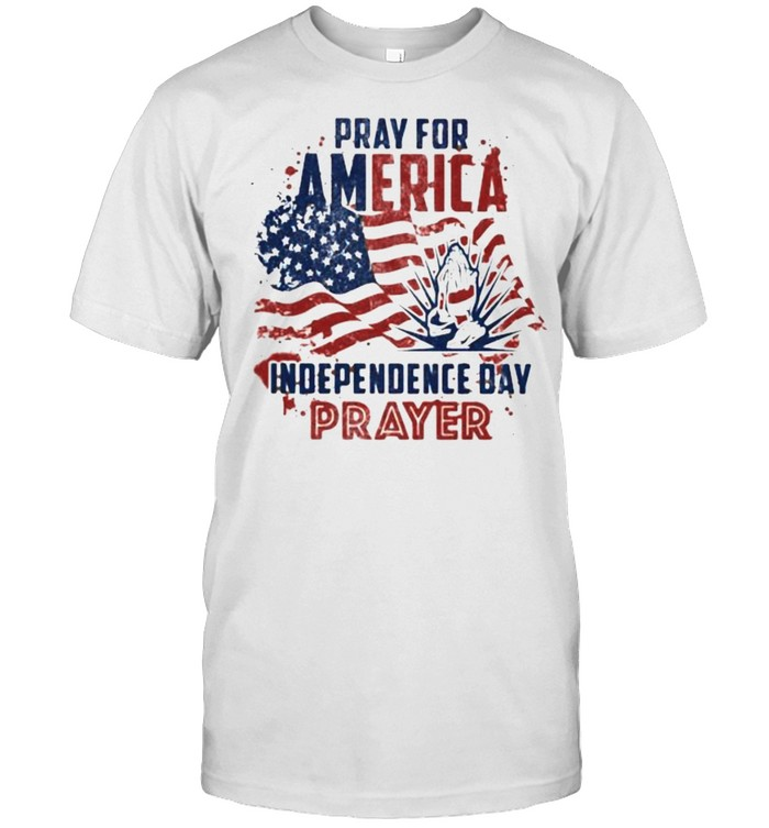 Pray for america independence day prayer flag shirt Classic Men's T-shirt
