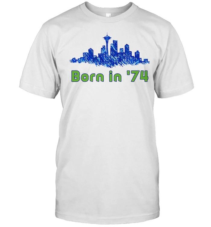 Seattle Sounders City Born In 74 T-shirt Classic Men's T-shirt