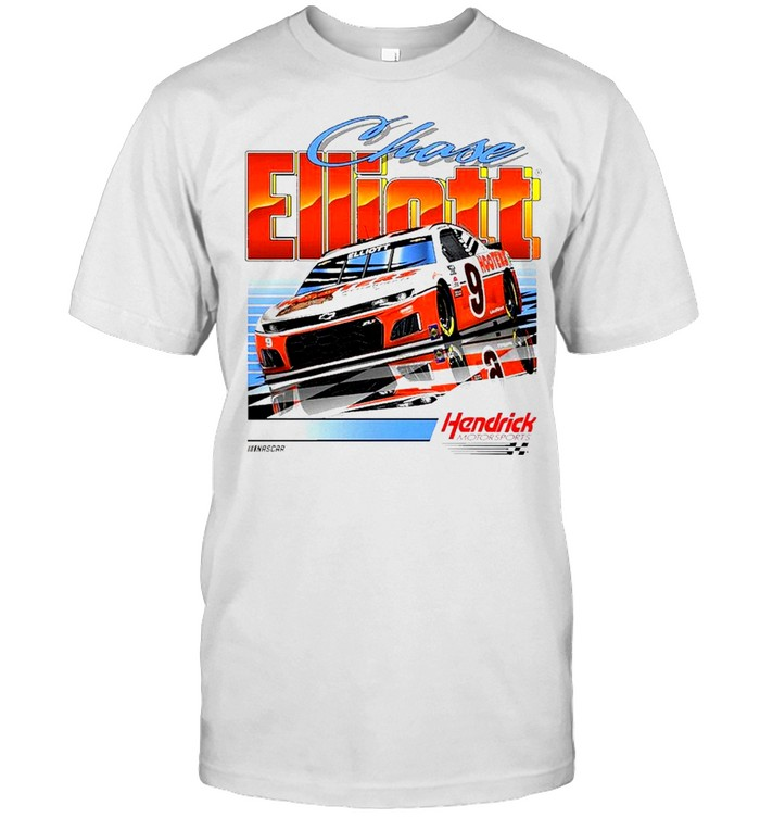 Chase Elliott Hendrick Motorsports Team Collection Hooters Throwback Graphic 2 Spot shirts Classic Men's T-shirt