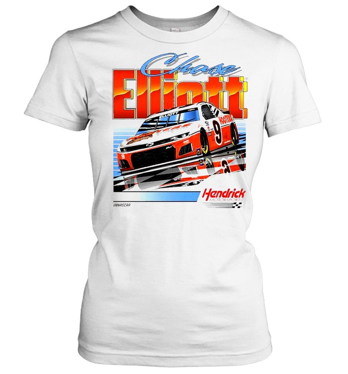 Chase Elliott Hendrick Motorsports Team Collection Hooters Throwback Graphic 2 Spot shirts Classic Women's T-shirt