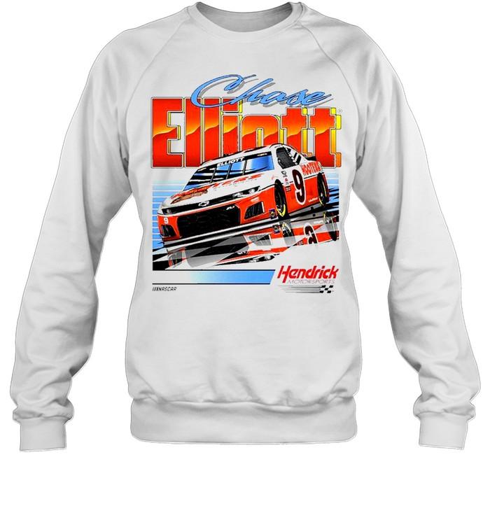 Chase Elliott Hendrick Motorsports Team Collection Hooters Throwback Graphic 2 Spot shirts Unisex Sweatshirt