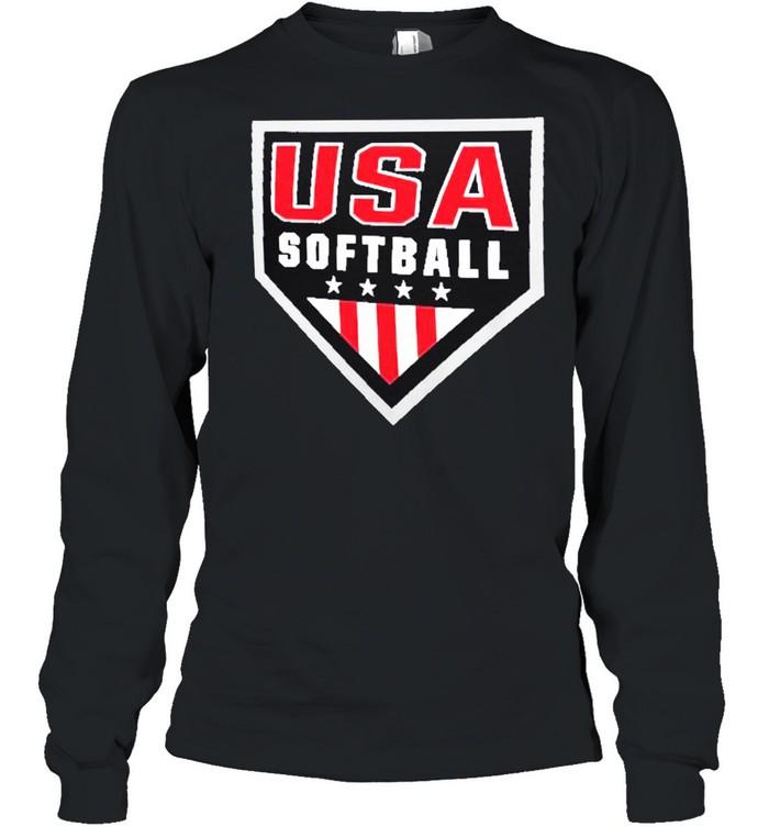 USA Softball Primary Logo shirt Long Sleeved T-shirt