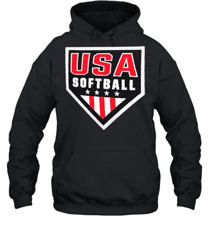 USA Softball Primary Logo shirt Unisex Hoodie