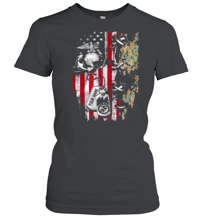 American Flag Veteran  Classic Women's T-shirt