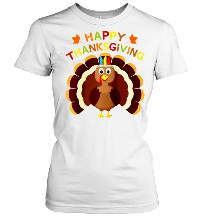 Thanksgiving Turkey Toddler Happy Thanksgiving Day shirt Classic Women's T-shirt