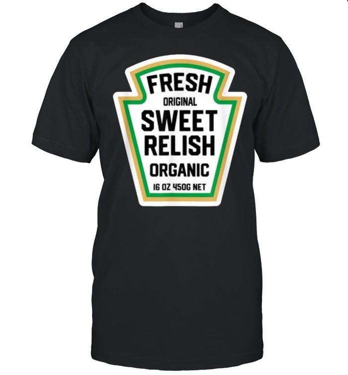 Fresh Original Sweet Relish Organic Halloween Pickle Bottle Label T- Classic Men's T-shirt