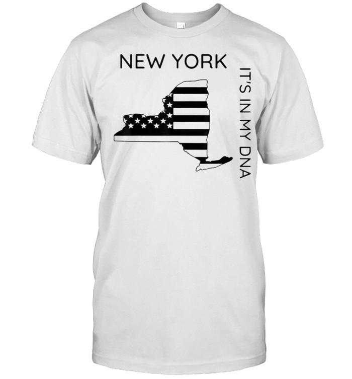 New York It's In My DNA Patriotic New Yorker Flag T- Classic Men's T-shirt