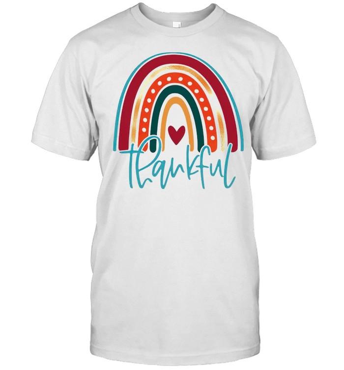 Thankful rainbow thanksgiving shirt Classic Men's T-shirt