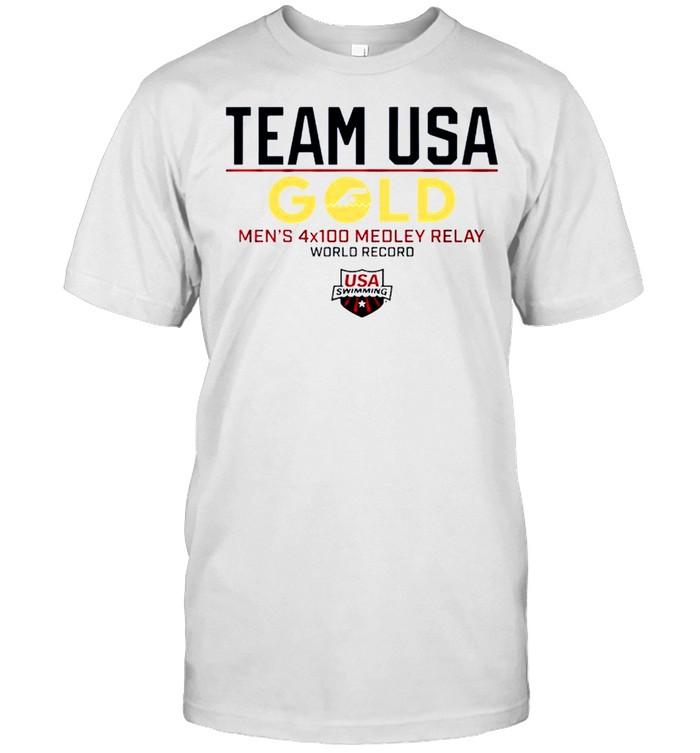 Team USA Gold Men's 4×100 Medley Relay World Record USA Swimming shirt Classic Men's T-shirt