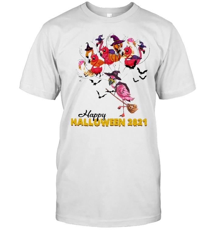 Flamingo Witch Happy Halloween 2021 Shirt Masswerks Store