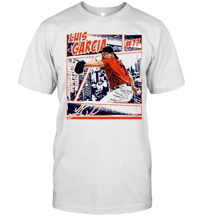 Houston Baseball Luis Garcia #77 comic signature shirt Classic Men's T-shirt