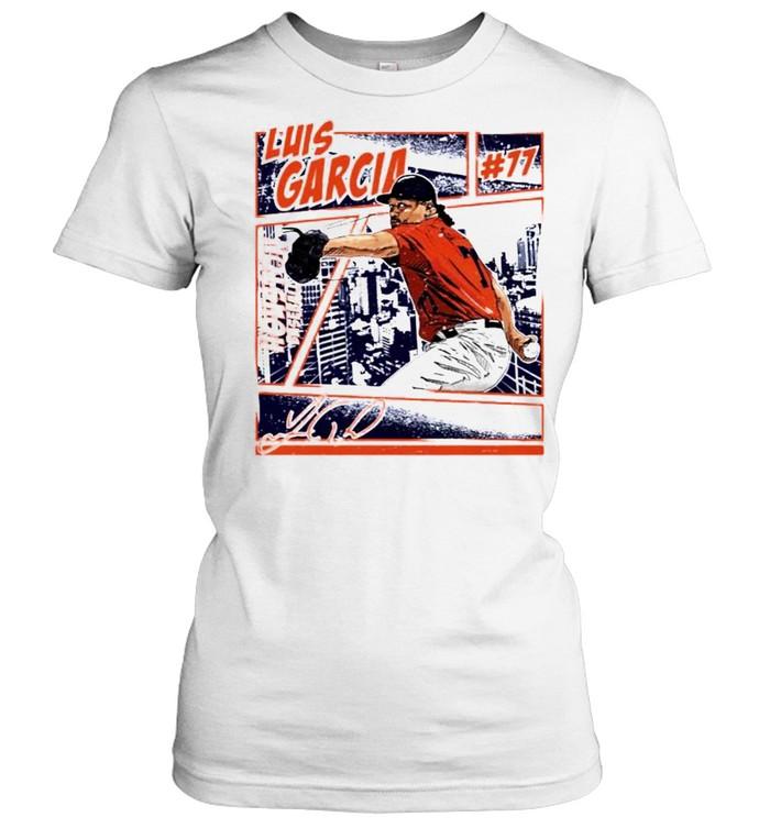 Houston Baseball Luis Garcia #77 comic signature shirt Classic Women's T-shirt
