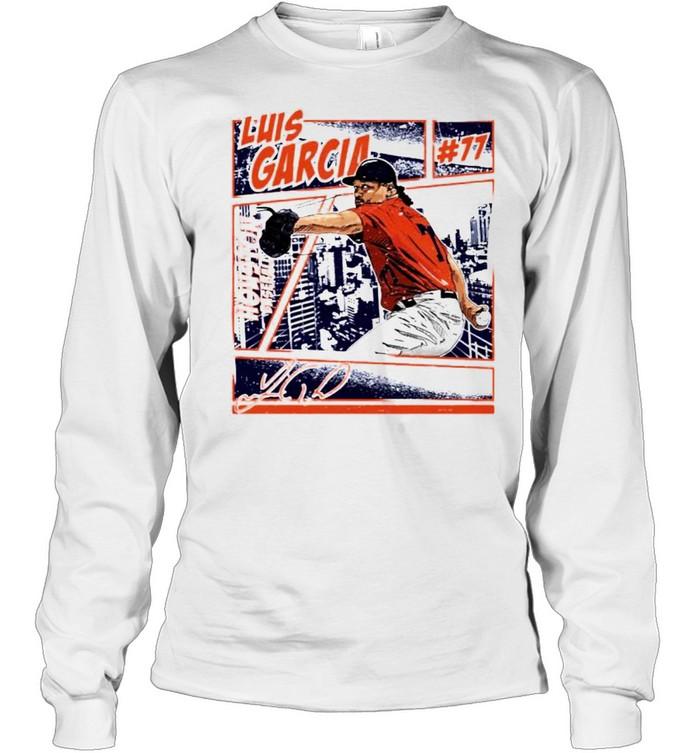 Houston Baseball Luis Garcia #77 comic signature shirt Long Sleeved T-shirt
