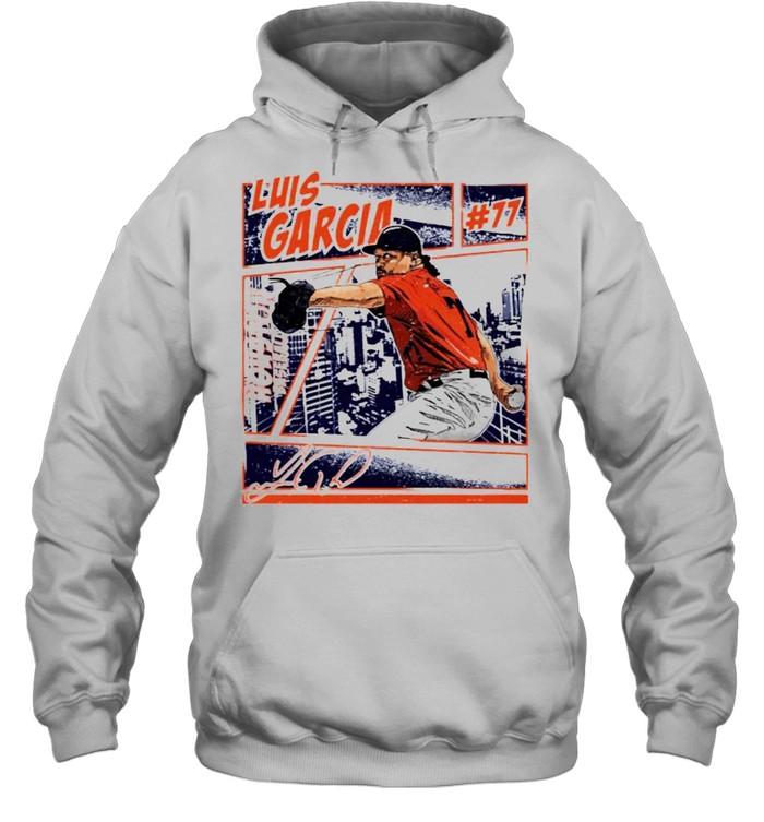 Houston Baseball Luis Garcia #77 comic signature shirt Unisex Hoodie