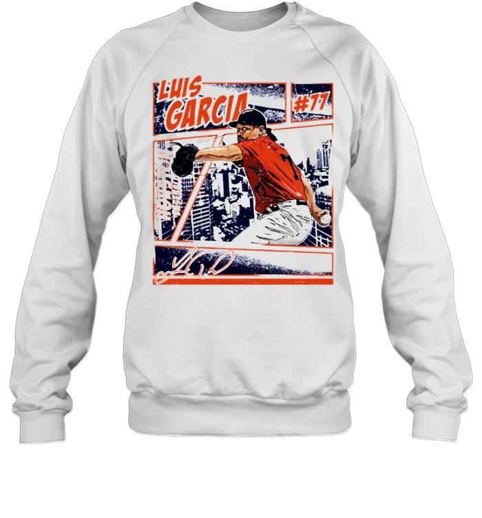 Houston Baseball Luis Garcia #77 comic signature shirt Unisex Sweatshirt