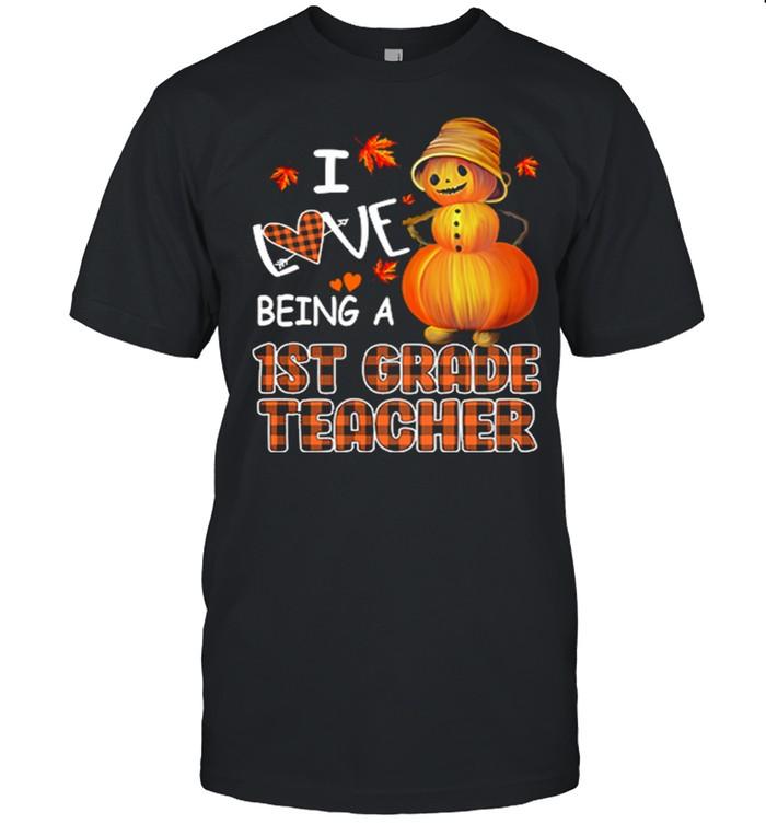 I Love Being A 1St Grade Teacher Halloween Shirt Masswerks Store