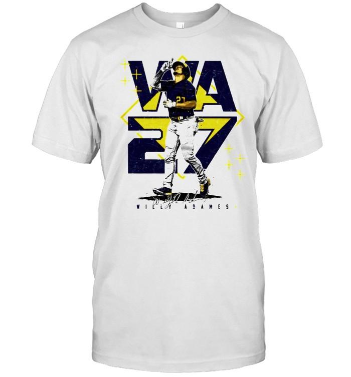 Milwaukee Baseball Willy Adames #27 player square shirt Classic Men's T-shirt