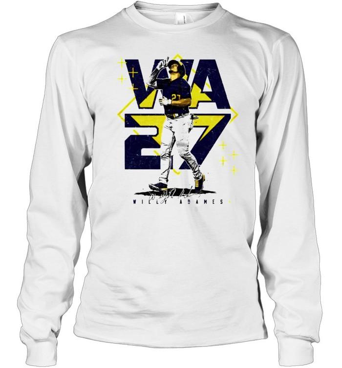 Milwaukee Baseball Willy Adames #27 player square shirt Long Sleeved T-shirt